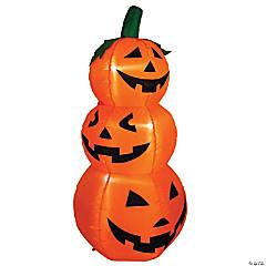 3.5' Inflatable Lighted Pumpkin Trio Halloween Outdoor Yard Art