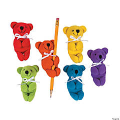 "3.5"" Rainbow Stuffed Bear Huggers"