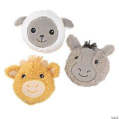 "3.5"" Round Stuffed Nativity Animals"
