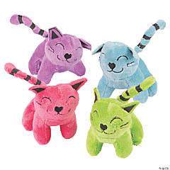 """3.75"""" Colorful Stuffed Cat Assortment"""