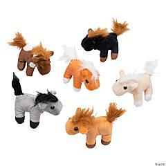 """3"""" Realistic Stuffed Horses"""