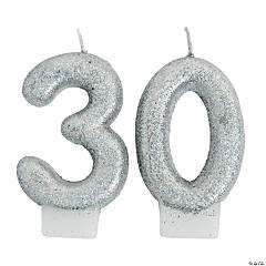 30th Birthday Sparking Celebration Candle