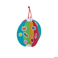3D Beach Ball Sticker Scene Ornaments