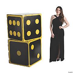 3D Black Dice Cardboard Stand-Ups