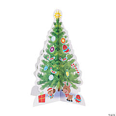3D Christmas Tree Sticker Scenes