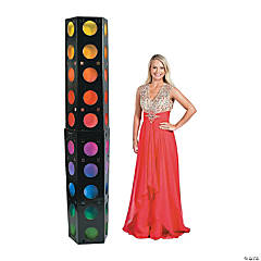 3D Dance Party Lights Column Cardboard Stand-Up