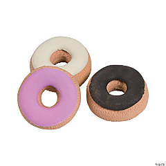 3D Donut Erasers - 24 Pc.
