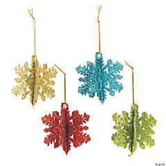 3D Glitter Snowflake Ornaments
