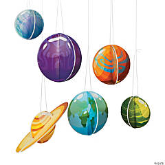 3D Hanging Planets