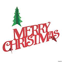 3D Merry Christmas Glitter Centerpiece Set