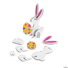 3D Mini Easter Bunny Tabletop Decorations