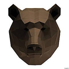 3D Papercraft Wall Art - Bear Head