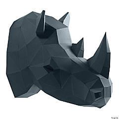 3D Papercraft Wall Art - Rhino Head