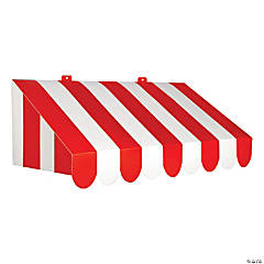 3D Red & White Circus Awning