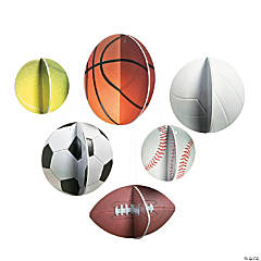 3D Sports VBS Hanging Sports Balls Decorations