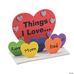 3D Things I Love Heart Craft Kit