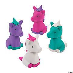 3D Unicorn Erasers - 24 Pc.
