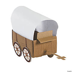 3D Western Covered Wagon Craft Kit