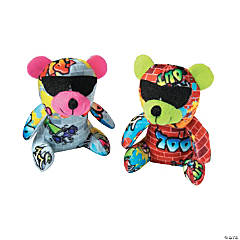 "4.5"" Graffiti Stuffed Bears"