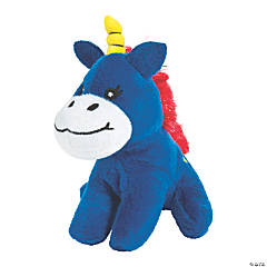 "4.5"" Patriotic Stuffed Unicorns"