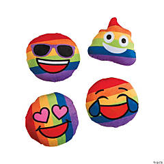 "4.5"" Rainbow Plush Emojis"