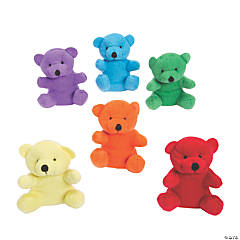 "4"" Bright Stuffed Bears"