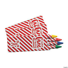 4-Color Candy-Striped Holiday Crayons - 24 Boxes