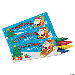 4-Color Christmas Crayons - 24 Boxes