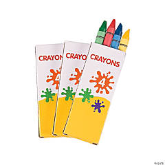 4-Color Crayons - 12 Boxes