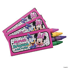 4-Color Disney Minnie's Happy Helpers Crayons - 12 Boxes