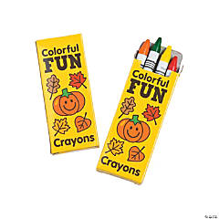 4-Color Fall Crayons - 24 Boxes