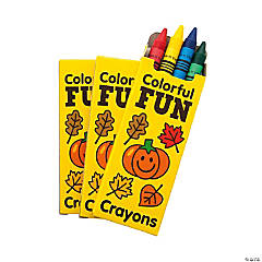 4-Color Fall Crayons - 48 Boxes