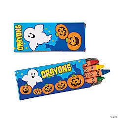 4-Color Halloween Crayons - 48 Boxes