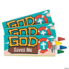 4-Color Island VBS Crayons - 12 Boxes