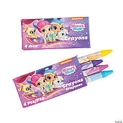 4-Color Nickelodeon™ Shimmer & Shine™ Crayons - 12 Boxes