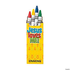 4-Color Religious Crayons - 24 Boxes