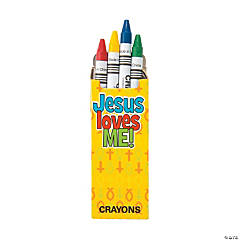 4-Color Religious Crayons - 48 Boxes