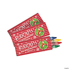 4-Color Rudolph the Red-Nosed Reindeer® Crayons - 24 Boxes
