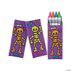 4-Color Spookadelic Crayons - 24 Boxes