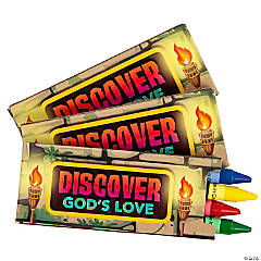 4-Color Treasure Hunt VBS Crayons