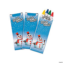 4-Color Winter Crayons - 24 Boxes
