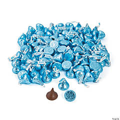 4 lb Hershey's® Kisses® Light Blue Milk Chocolate Candy