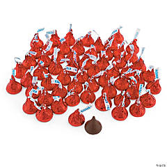 4 lb Hershey's® Kisses® Red Milk Chocolate Candy