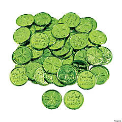 4-Leaf Clover Good Luck Coins Clip Strip