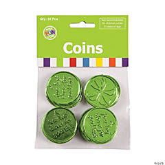 4-Leaf Clover Good Luck Coins