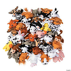 "4"" Mini Stuffed Animal Assortment"