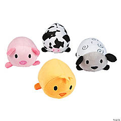 "4"" Plush Roly-Poly Farm Animals"
