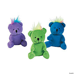 "4"" Rainbow Hair Stuffed Bears"