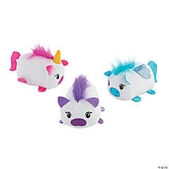 "4"" Roly Poly Mythical Stuffed Horses"