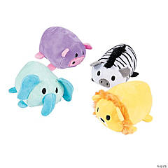 "4"" Roly-Poly Safari Stuffed Animals"